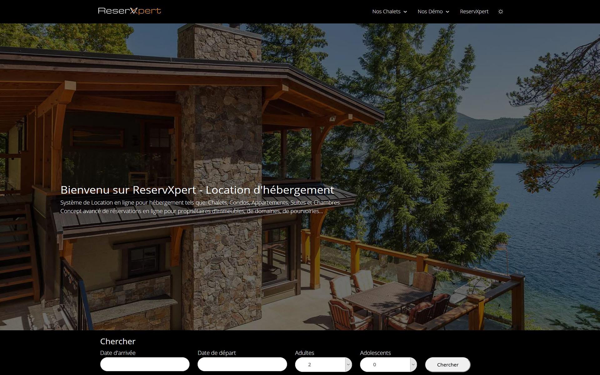 Front-end ReservXpert - Hébergement